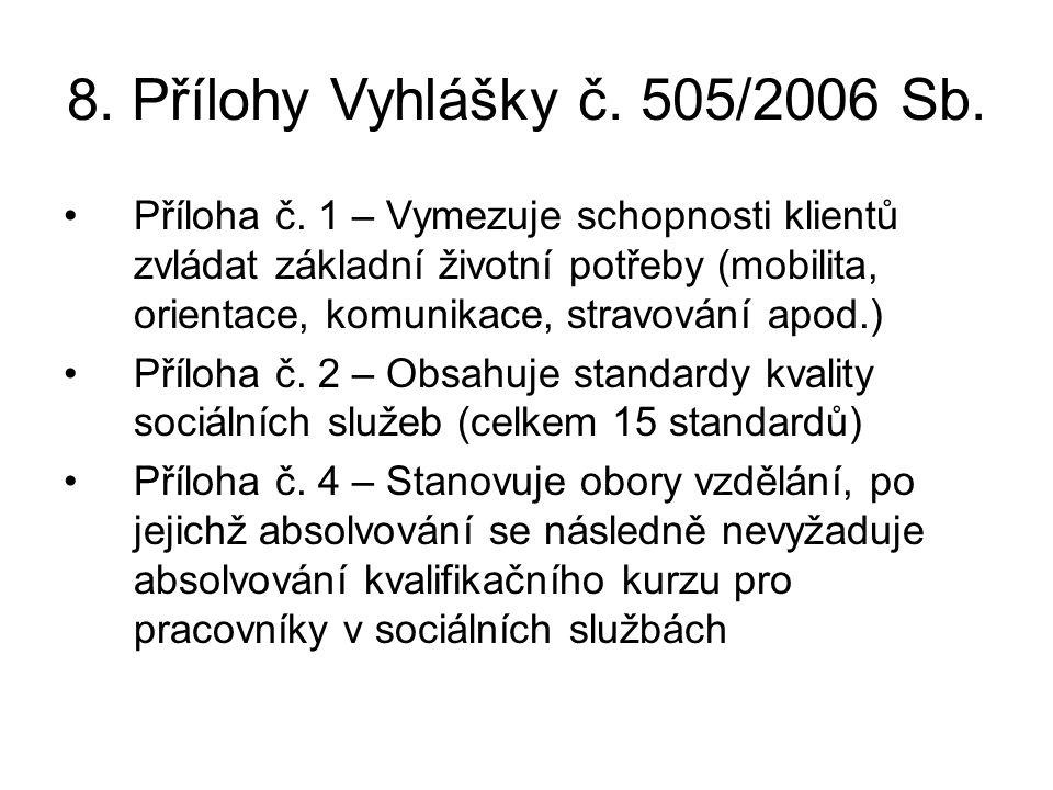 8. Přílohy Vyhlášky č. 505/2006 Sb.