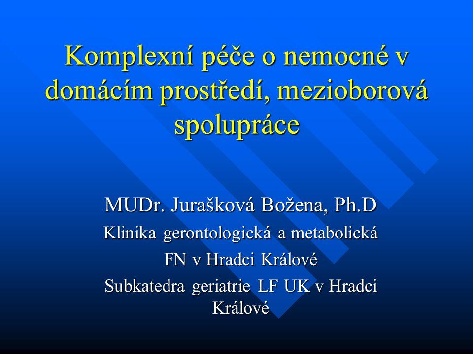 Komplexní péče o nemocné v domácím prostředí, mezioborová spolupráce