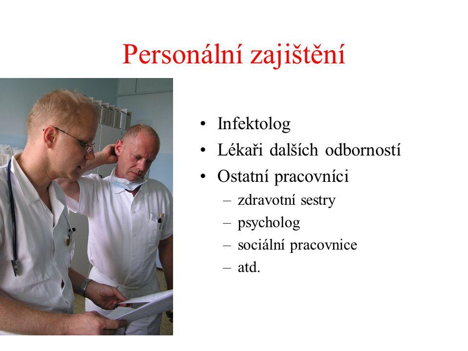 Personální zajištění Infektolog Lékaři dalších odborností