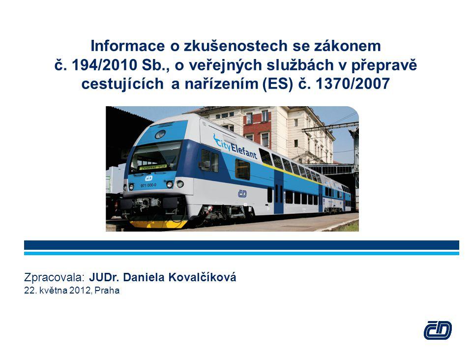 Informace o zkušenostech se zákonem č. 194/2010 Sb