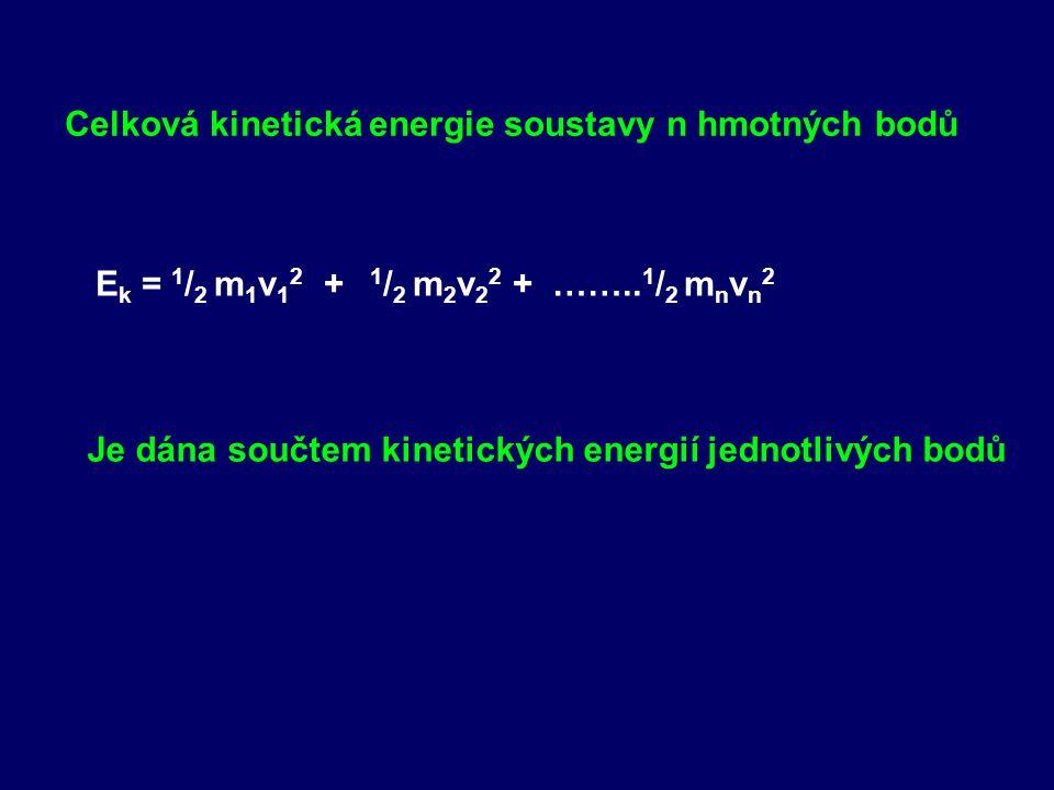 Celková kinetická energie soustavy n hmotných bodů