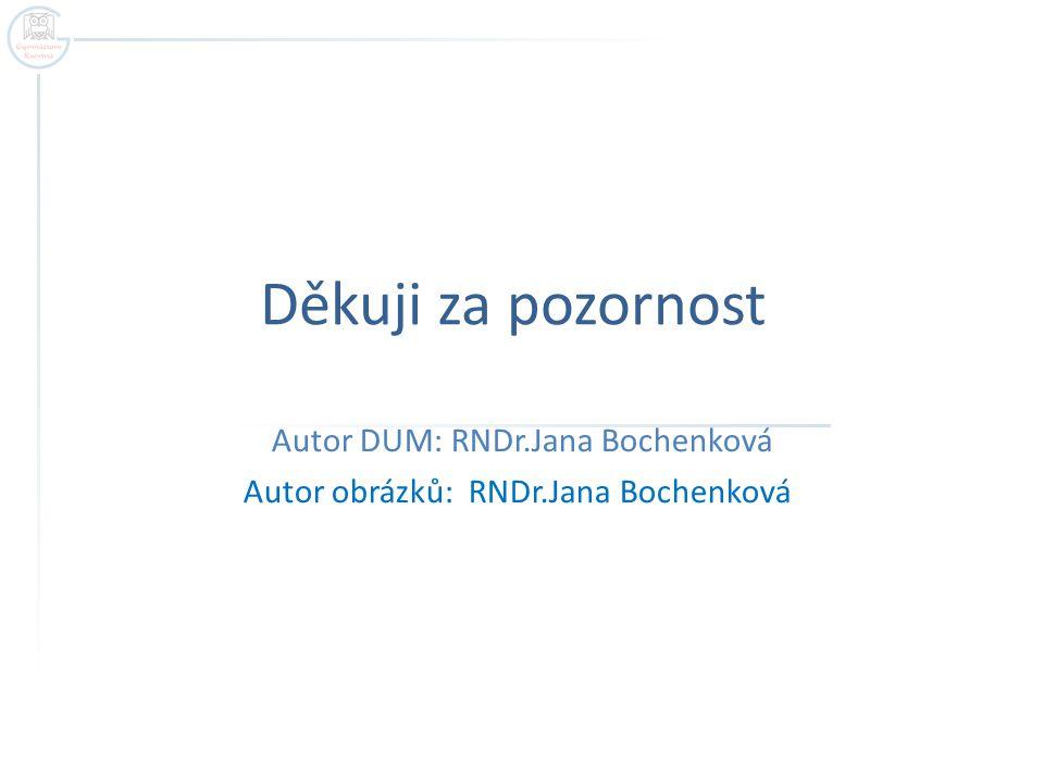 Autor DUM: RNDr.Jana Bochenková Autor obrázků: RNDr.Jana Bochenková