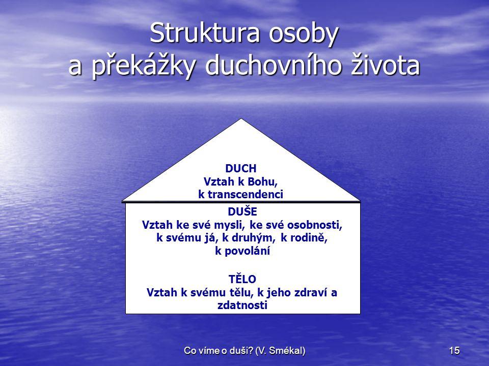 Struktura osoby a překážky duchovního života