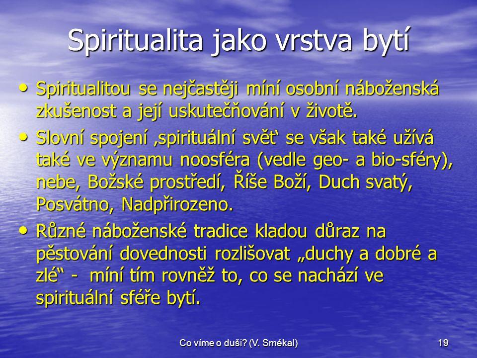 Spiritualita jako vrstva bytí