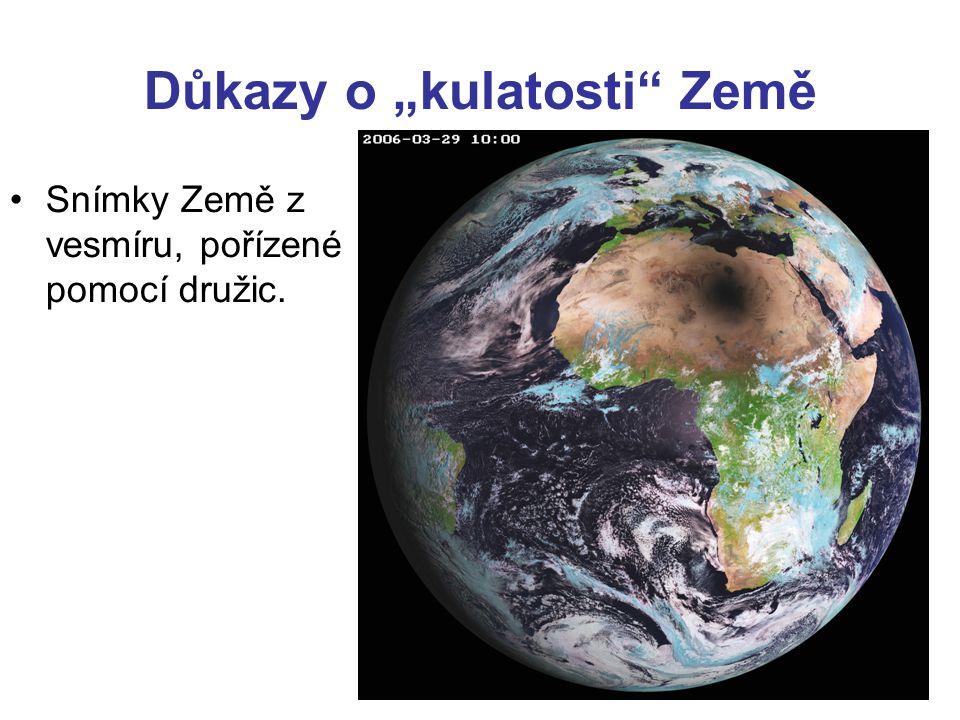 """Důkazy o """"kulatosti Země"""