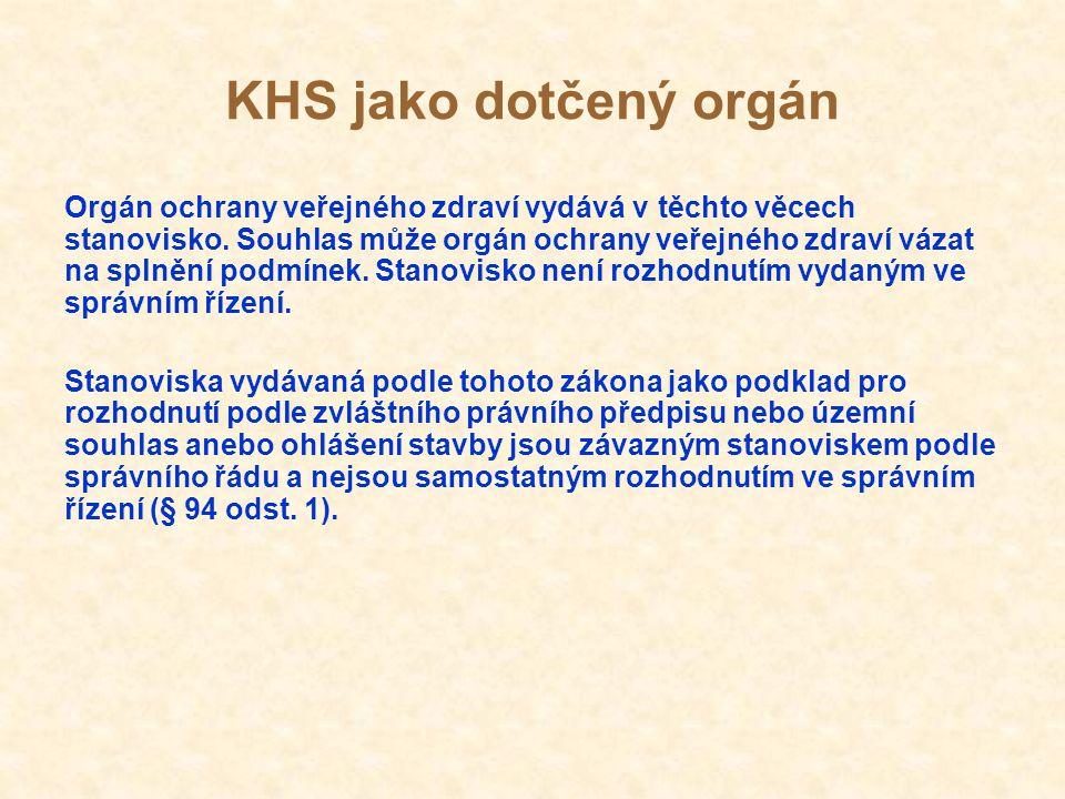 KHS jako dotčený orgán