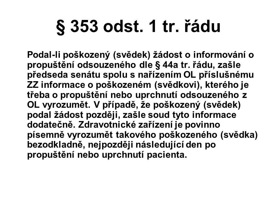 § 353 odst. 1 tr. řádu