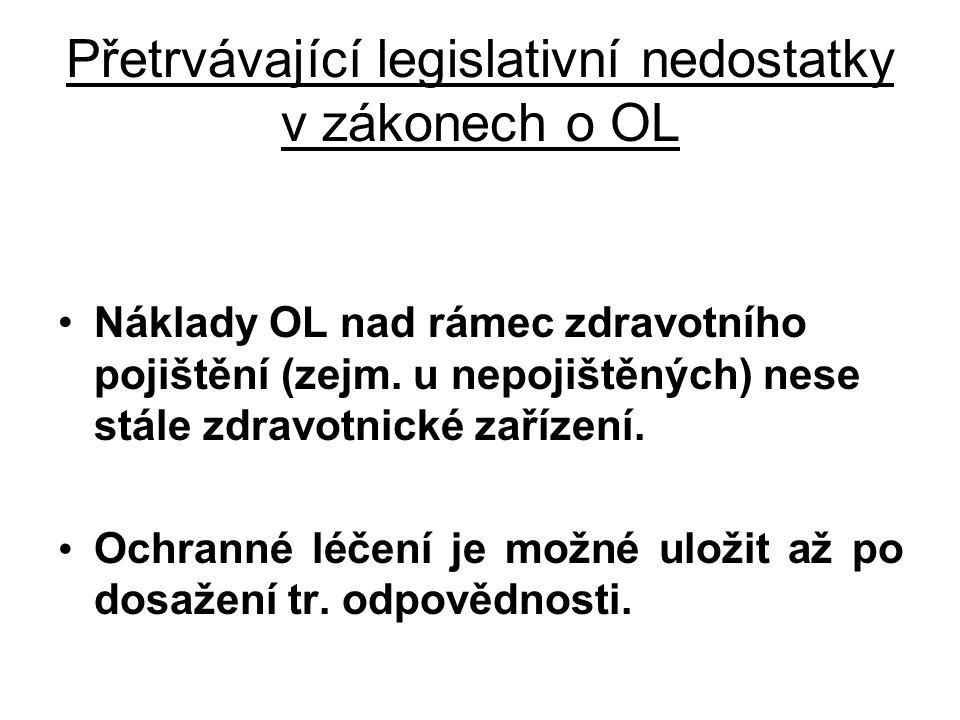 Přetrvávající legislativní nedostatky v zákonech o OL