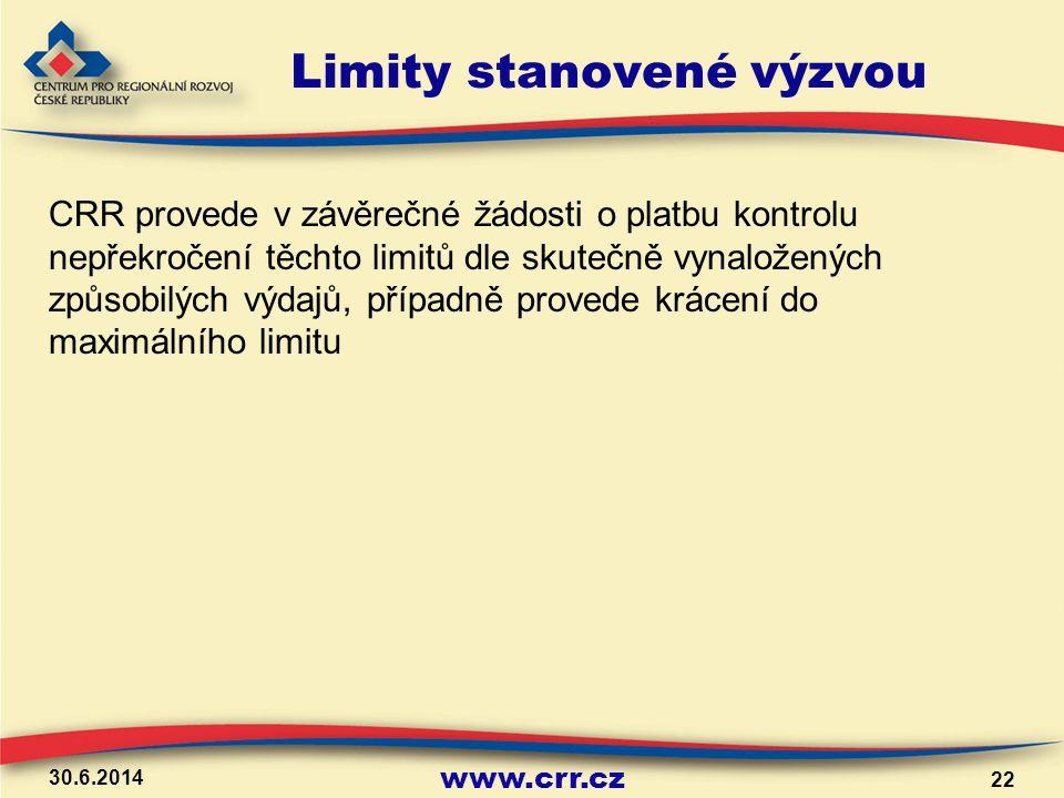 Limity stanovené výzvou