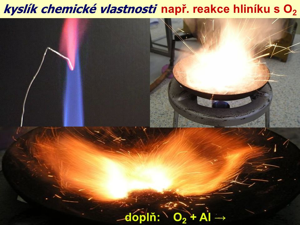 kyslík chemické vlastnosti