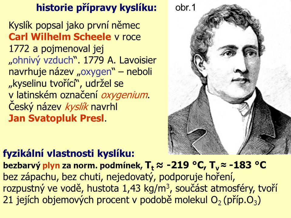 historie přípravy kyslíku: obr.1