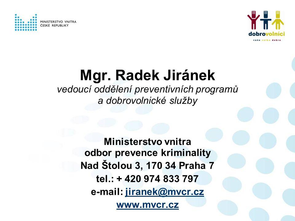 odbor prevence kriminality e-mail: jiranek@mvcr.cz