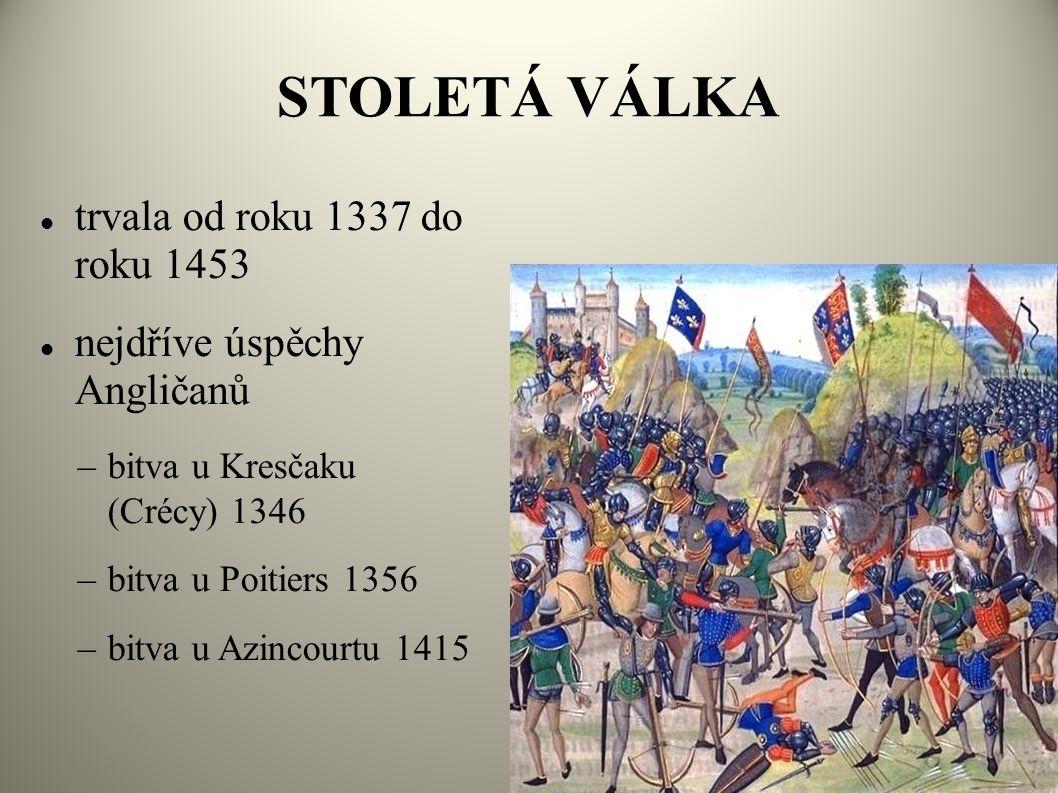 STOLETÁ VÁLKA trvala od roku 1337 do roku 1453