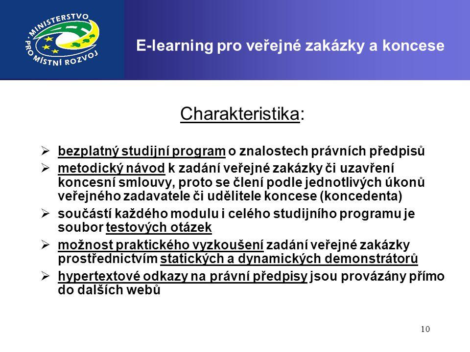 E-learning pro veřejné zakázky a koncese
