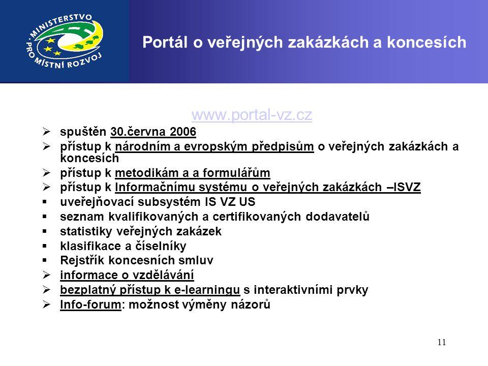 Portál o veřejných zakázkách a koncesích
