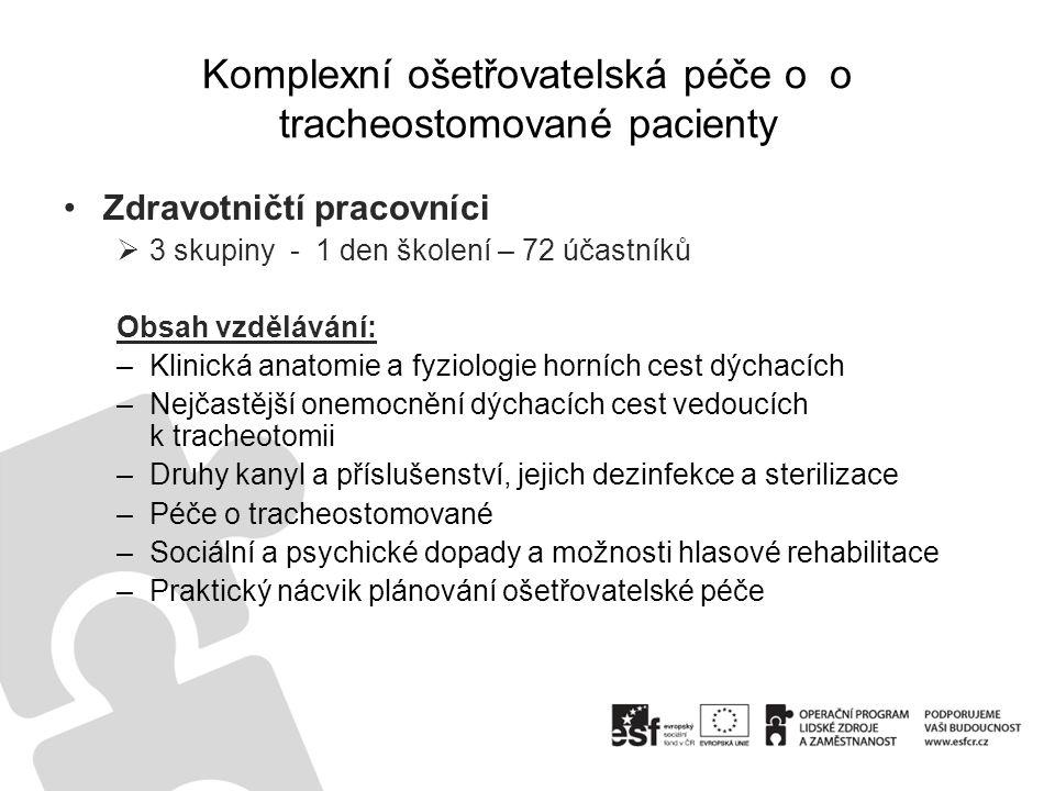 Komplexní ošetřovatelská péče o o tracheostomované pacienty