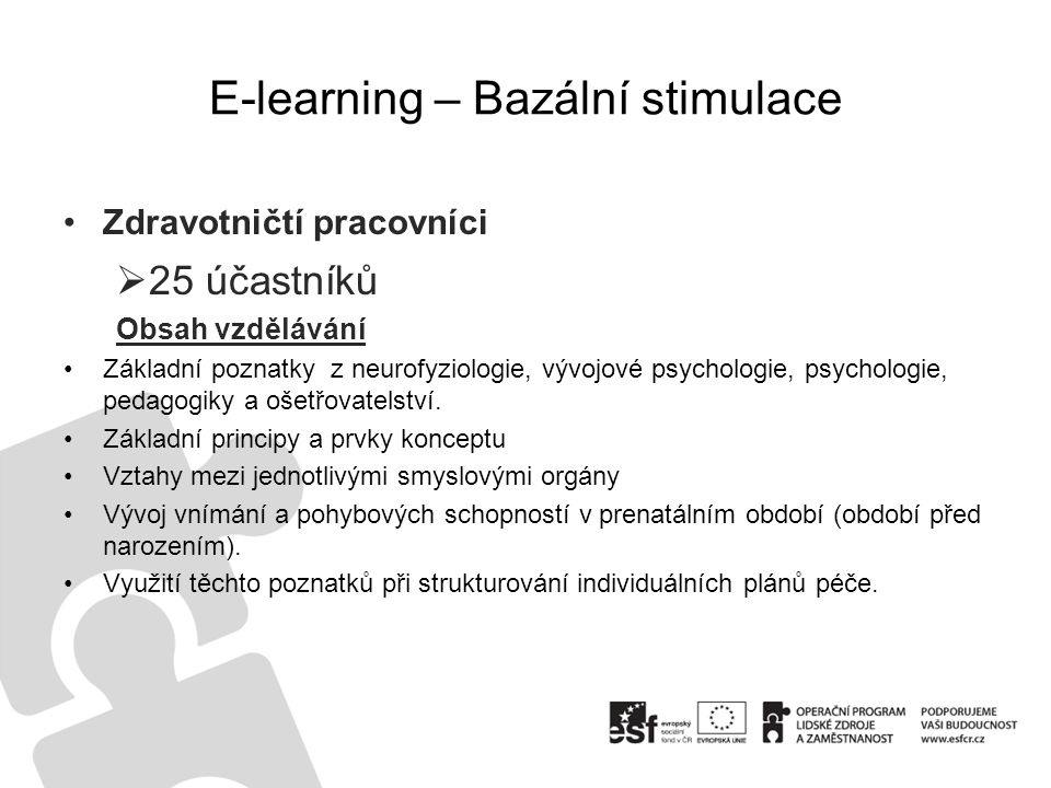E-learning – Bazální stimulace