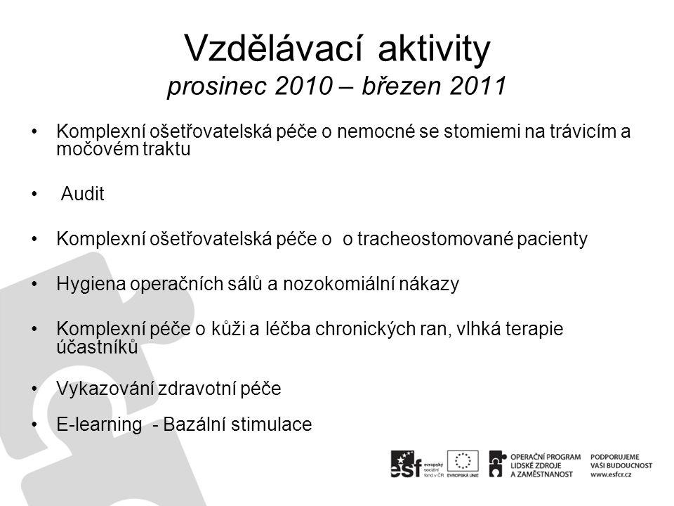 Vzdělávací aktivity prosinec 2010 – březen 2011