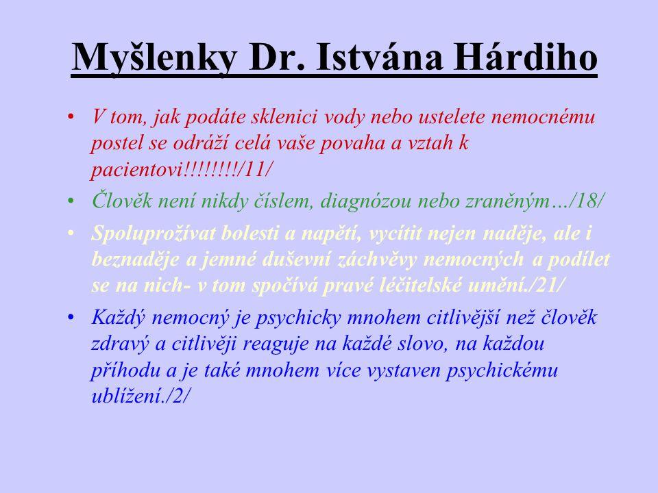 Myšlenky Dr. Istvána Hárdiho