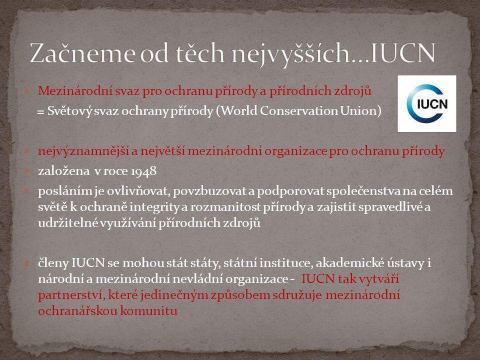 Začneme od těch nejvyšších…IUCN