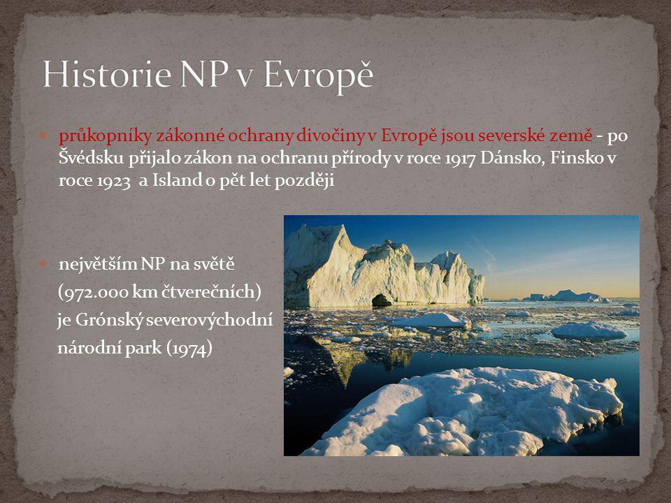 Historie NP v Evropě