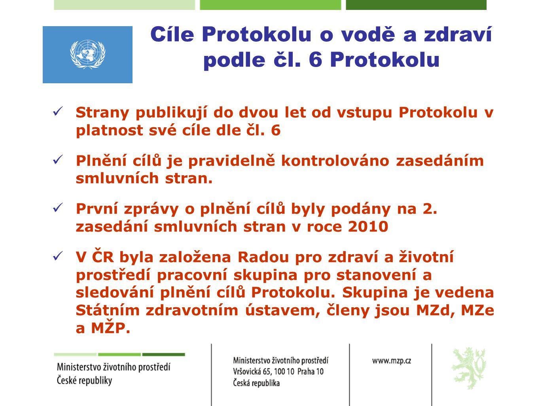Cíle Protokolu o vodě a zdraví podle čl. 6 Protokolu