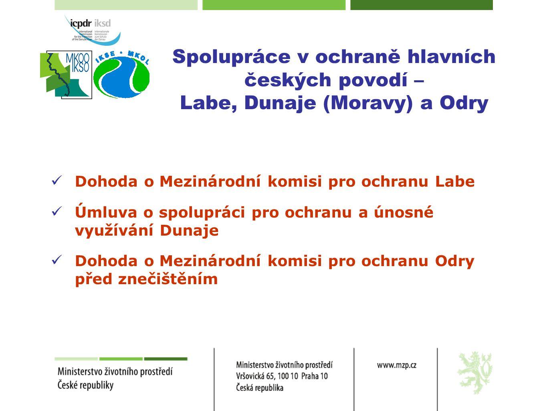 Spolupráce v ochraně hlavních českých povodí – Labe, Dunaje (Moravy) a Odry