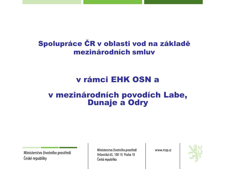 Spolupráce ČR v oblasti vod na základě mezinárodních smluv