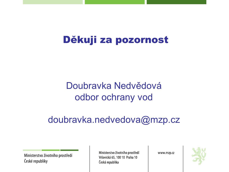 Děkuji za pozornost Doubravka Nedvědová odbor ochrany vod