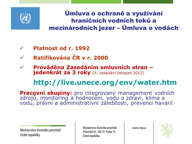 Úmluva o ochraně a využívání hraničních vodních toků a mezinárodních jezer – Úmluva o vodách