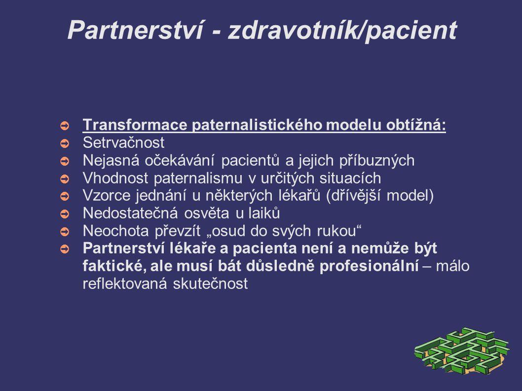 Partnerství - zdravotník/pacient