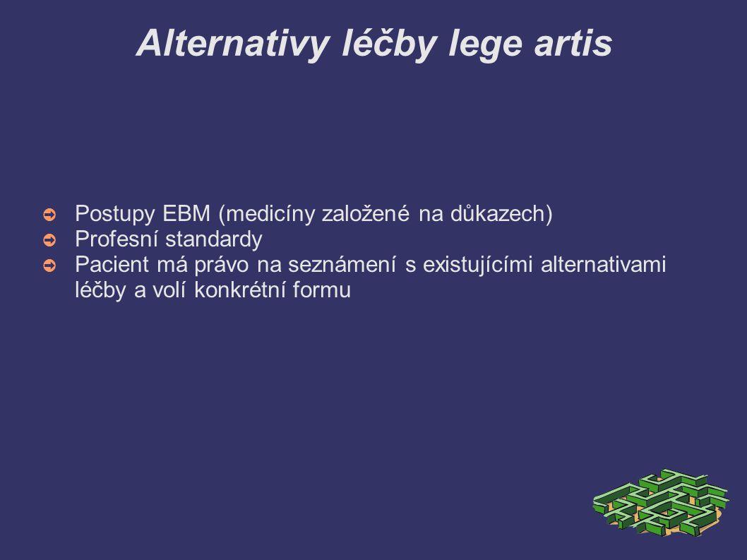 Alternativy léčby lege artis