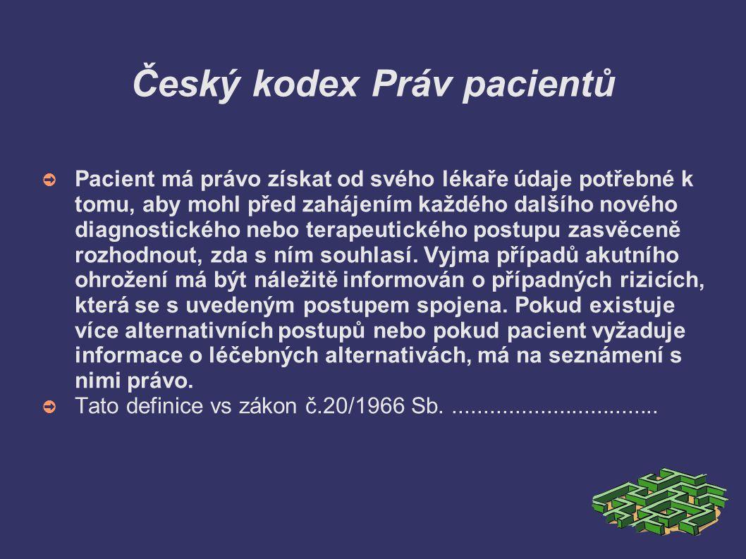Český kodex Práv pacientů