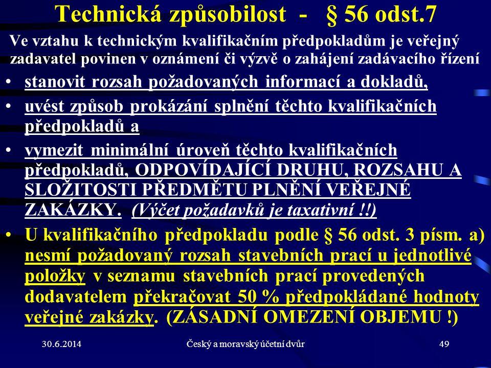 Technická způsobilost - § 56 odst.7
