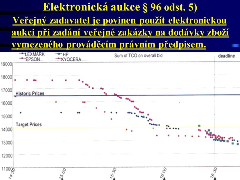 Elektronická aukce § 96 odst. 5)