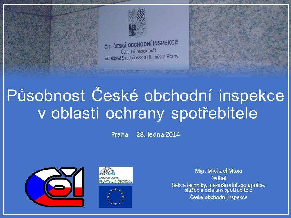 Působnost České obchodní inspekce v oblasti ochrany spotřebitele
