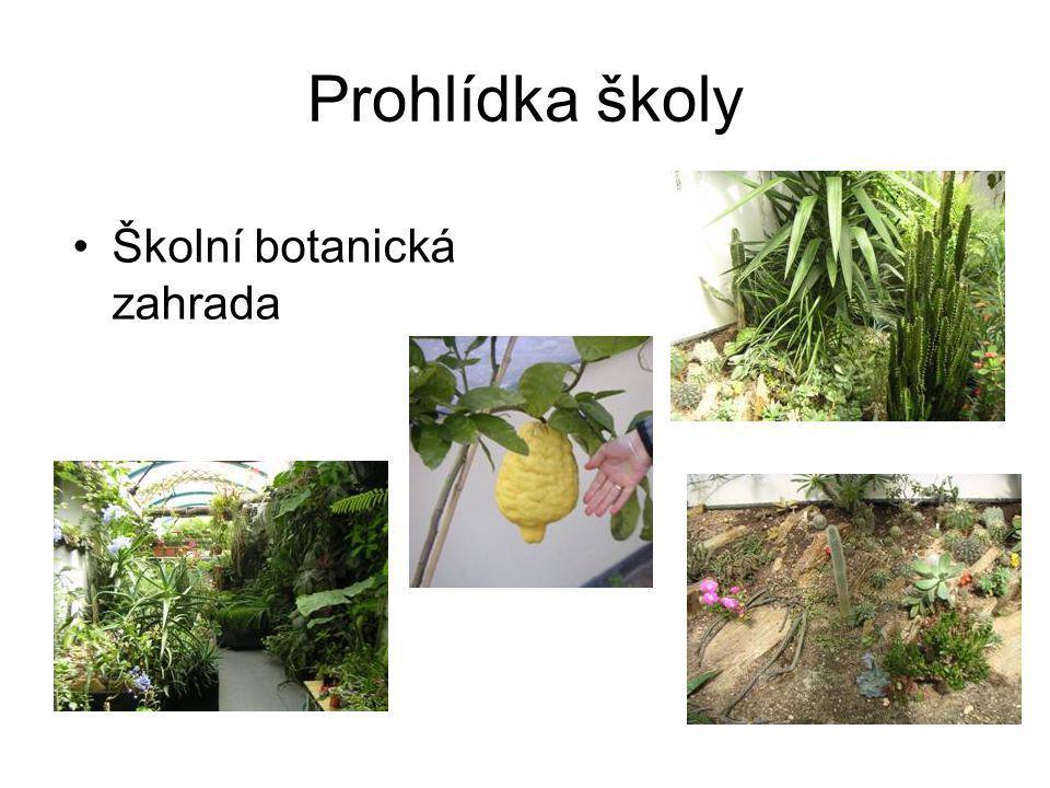 Prohlídka školy Školní botanická zahrada