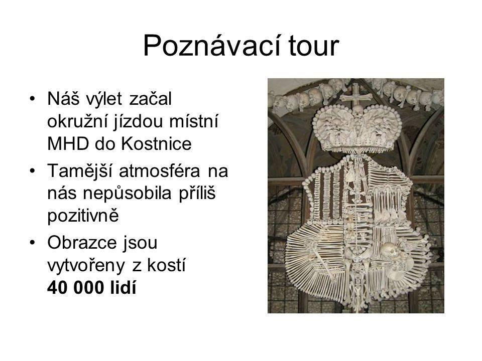 Poznávací tour Náš výlet začal okružní jízdou místní MHD do Kostnice