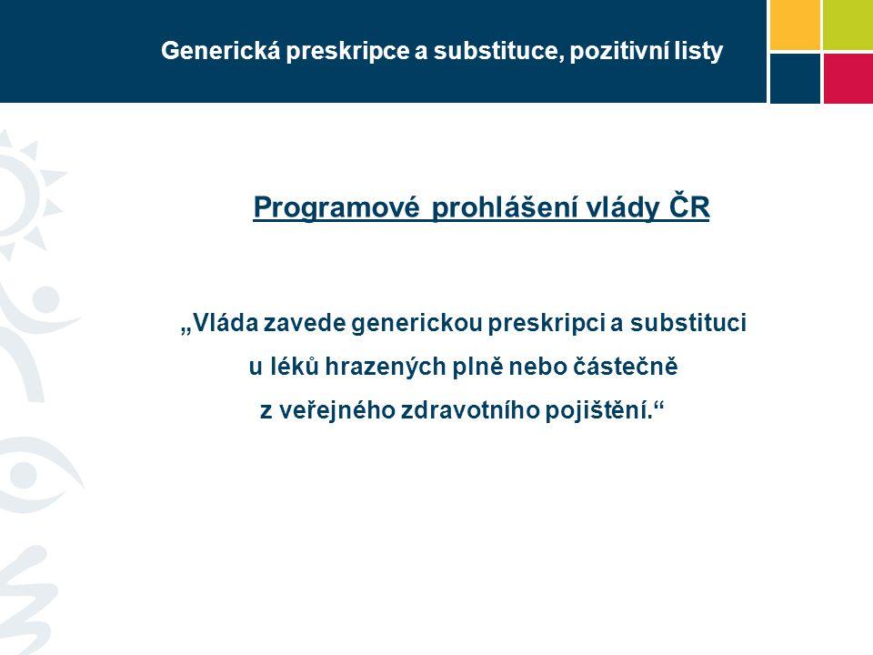 Generická preskripce a substituce, pozitivní listy