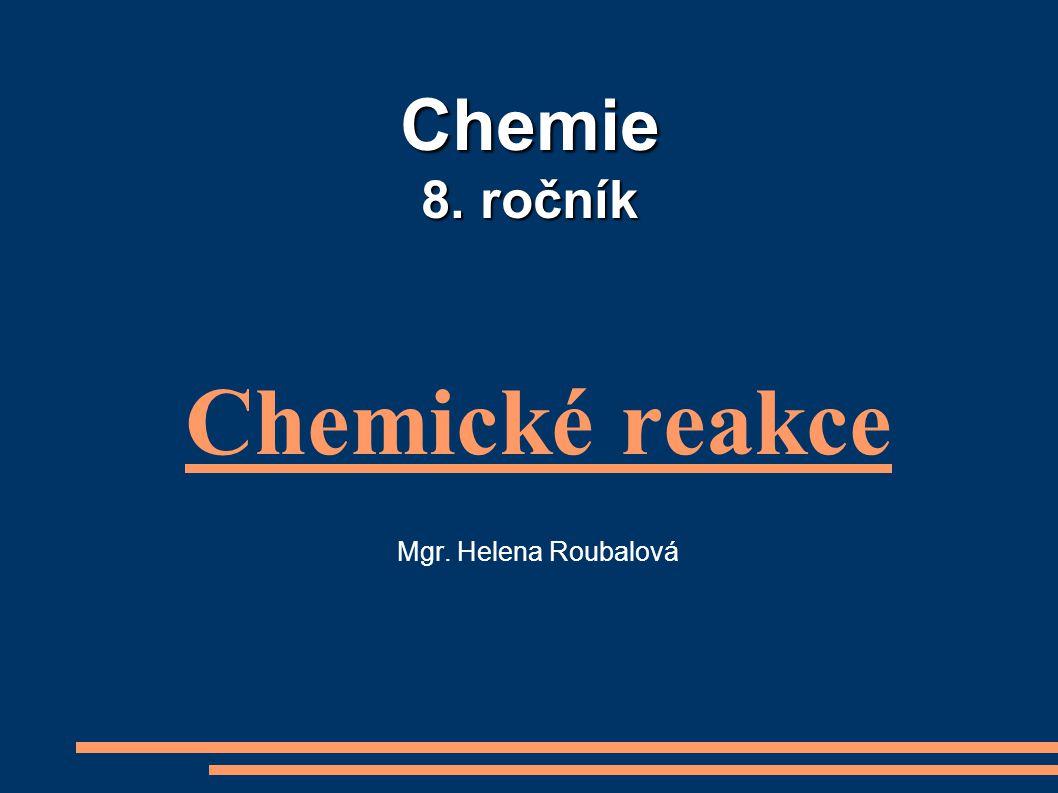 Chemické reakce Mgr. Helena Roubalová