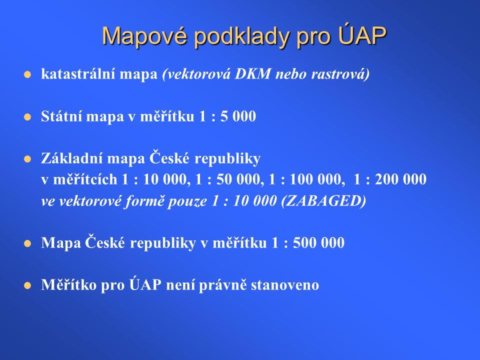 Mapové podklady pro ÚAP