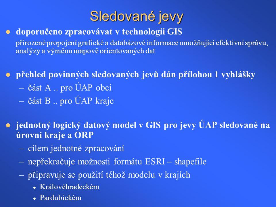 Sledované jevy doporučeno zpracovávat v technologii GIS