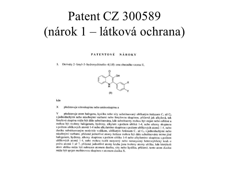 Patent CZ 300589 (nárok 1 – látková ochrana)