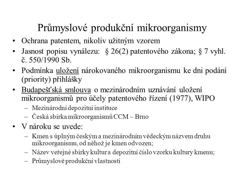 Průmyslové produkční mikroorganismy