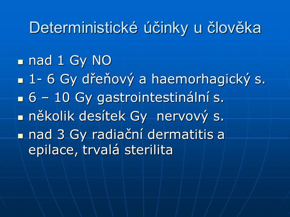 Deterministické účinky u člověka
