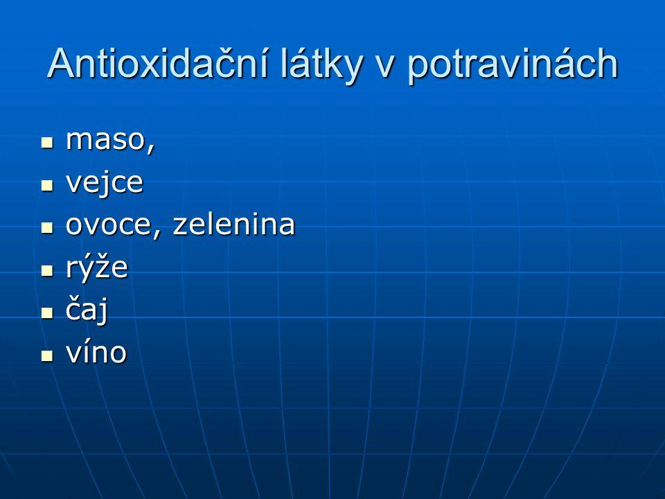 Antioxidační látky v potravinách