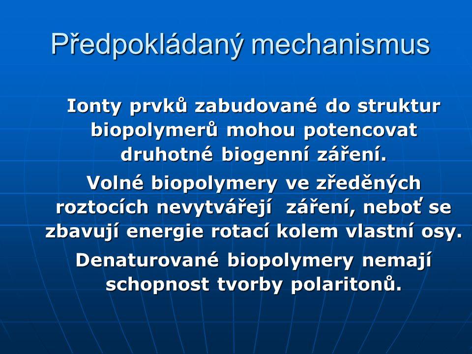 Předpokládaný mechanismus