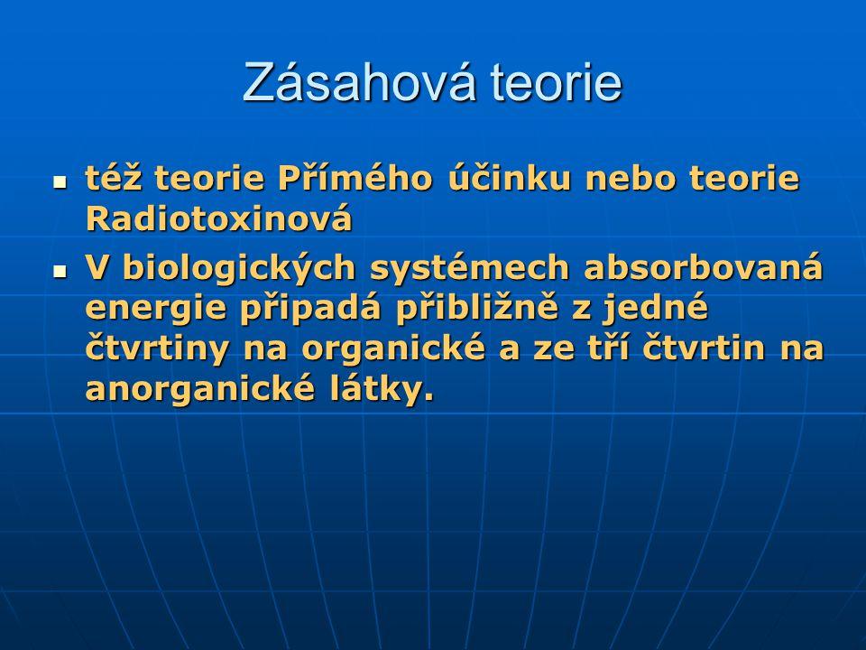 Zásahová teorie též teorie Přímého účinku nebo teorie Radiotoxinová