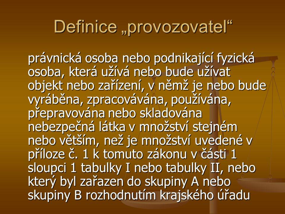 """Definice """"provozovatel"""