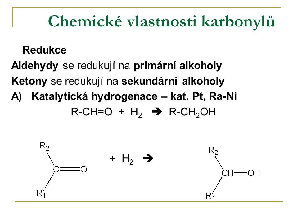 Chemické vlastnosti karbonylů
